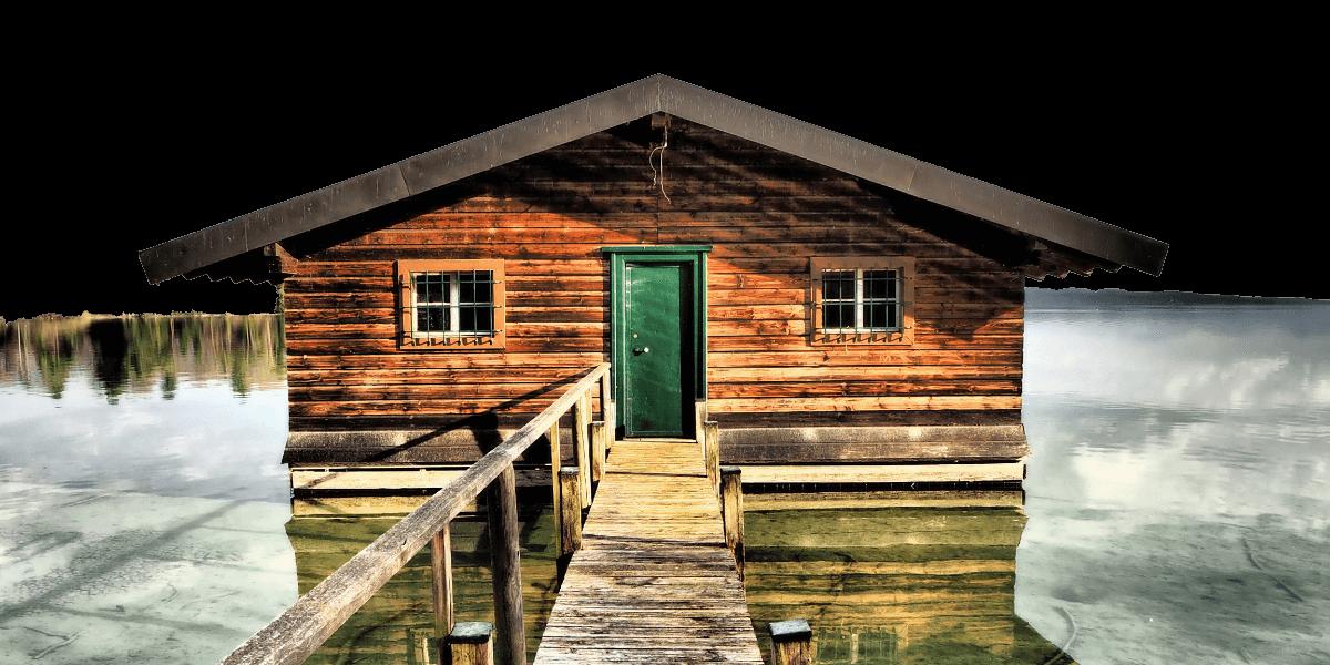 Bootshaus auf dem Starnberger See